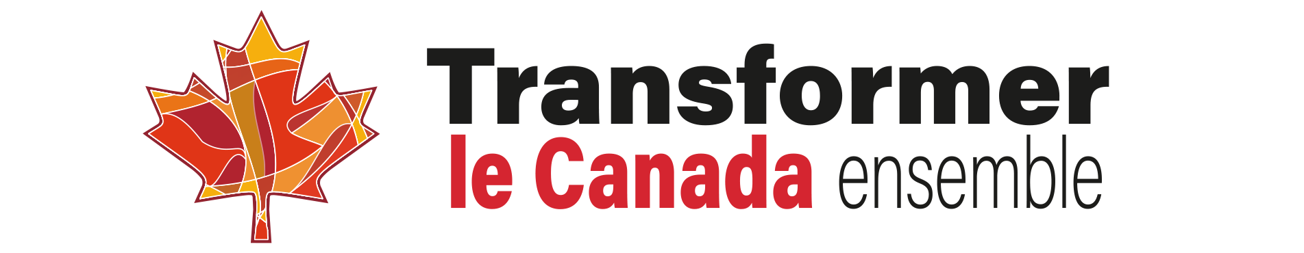 Transforming Canada Together Banner - French