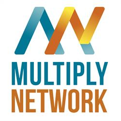 Multiply Network logo featuring and 'M' and 'N'