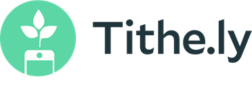 Tithe.ly logo of a leaf growing out of a cellphone
