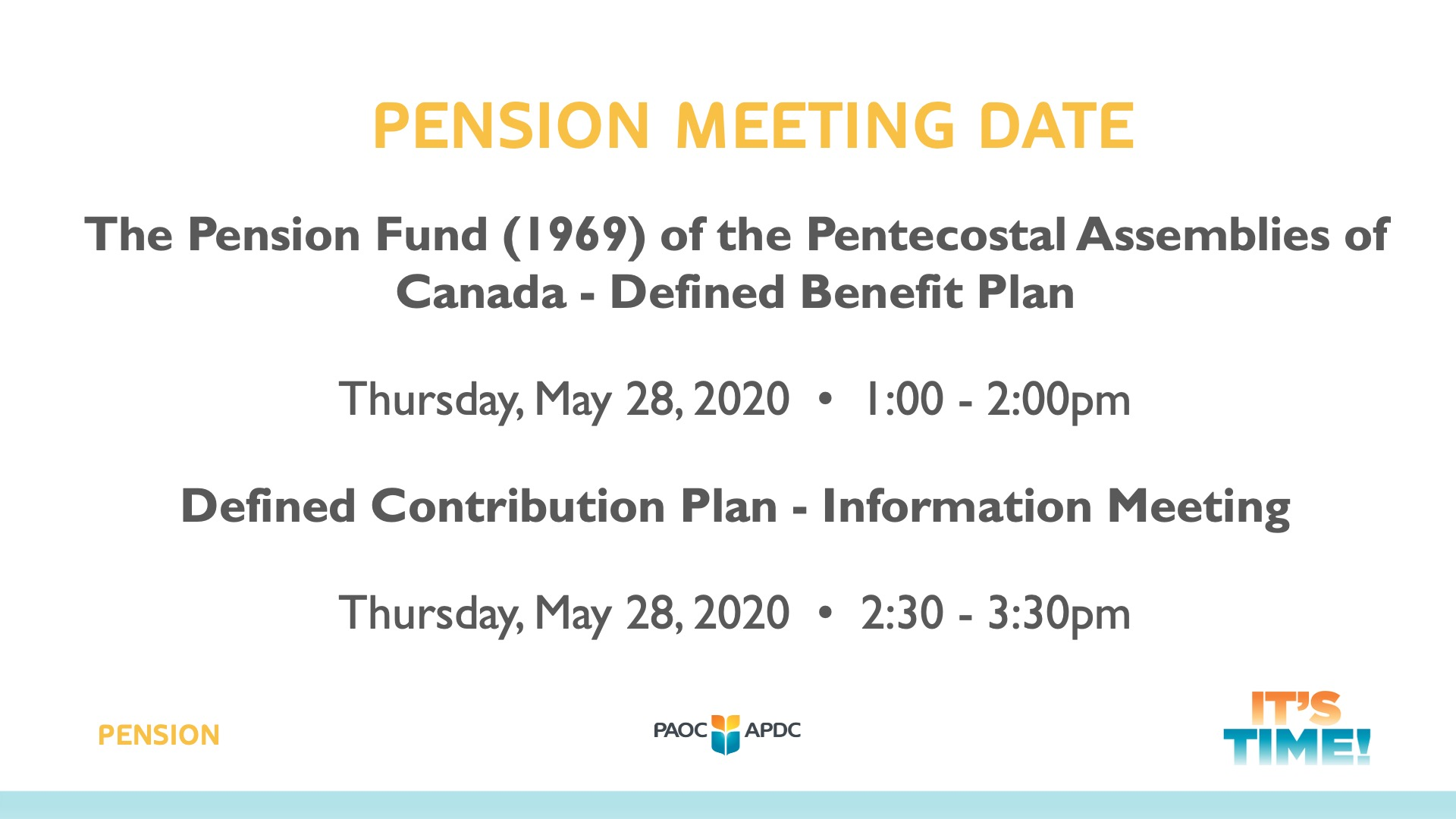 Banner for Pension Meeting
