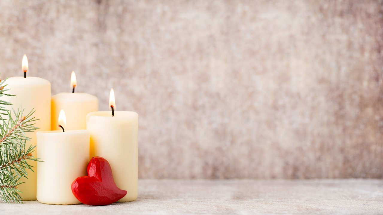 Stock photo of Christmas candles.